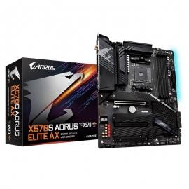 Gigabyte X570S AORUS ELITE AMD Ryzen AM4 ATX Motherboard, 4x DDR4 ~128GB, 3x PCI-E x16, 3x M.2, 6x SATAIII, RAID 0/1/10, 1x USB-C, 4x USB 3.2