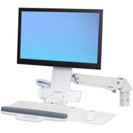 Ergotron Styleview Sit-stand Combo Arm Bright White Texture 45-266-216