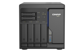 QNAP TS-h686-D1602-8G 6 Bay Tower NAS Intel Xeon D-1602 2 cores/4 threads 2.5 GHz processor(Turbo Boost up to 3.2 GHz),