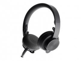 LOGITECH ZONE UC WIRELESS STEREO HEADSET,BLUETOOTH, NOISE CANCELLING,USB A RECEIVER, 2YR W 981-000915