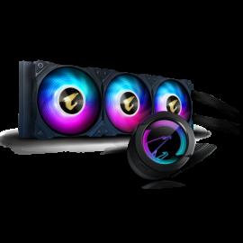 Gigabyte AORUS WF CPU AIO COOLER 360 W/ LCD DISPLAY, INTEL/AMD SOCKET,3 x 120mm RGB FANS, 3YR WTY GP-AORUS-WATERFORCE-360