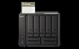 "QNAP TS-h973AX-32G,9-bay NAS, AMD Ryzen V1500B 4C 8T 2.2GHz, 32GB DDR4 SODIMM, 5 x 2.5""/3.5"" SATA 6Gbps"