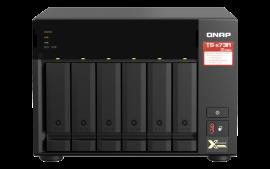 QNAP TS-673A-8G,6-bay NAS, AMD Ryzen V1000 series V1500B 4C/8T 2.2GHz, 8GB DDR4 RAM(Max. 64GB),