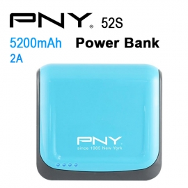 Pny Power Bank 52s Blue 5200mah 2 Usb Output 52s-blue