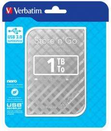 Verbatim 2.5in Store N Go Portable 1tb Silver 53197