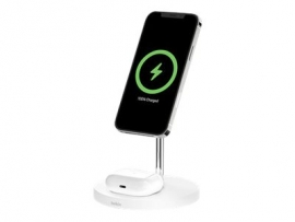 BELKIN 2-IN-1 WIRELESS CHARGER FOR APPLE MAGSAFE WHITE  WIZ010AUWH