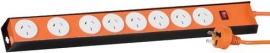 Jackson 8 Way Heavy Duty Metal Power Board: Orange Pt8888