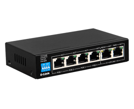 D-Link 6-Port PoE Switch with 4 Long Reach 250m PoE Ports and 2 Uplink Ports (Des-F1006P-E)