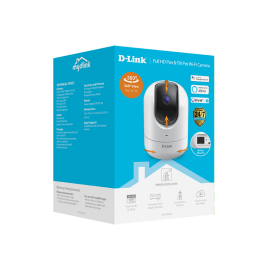 D-Link mydlink DCS-8526LH HD Network Camera - 5 m - H.264, MPEG-2 - 1920 x 1080 Fixed Lens - CMOS - Ceiling Mount - Google Assistant, Alexa Supported