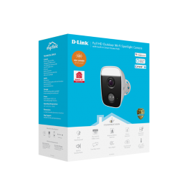 D-Link mydlink DCS-8630LH HD Network Camera - 5 m - H.264 - 1920 x 1080 Fixed Lens - CMOS - Google Assistant, Alexa Supported