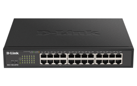 D-Link DGS-1100-24PV2 24-Port Smart Managed Switch with 12 PoE+ ports. PoE budget 100W