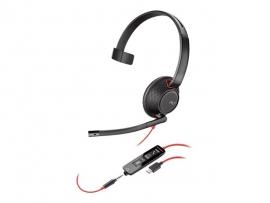 PLANTRONICS BLACKWIRE C5210 UC MONO USB-C & 3.5MM CORDED HEADSET 207587-201