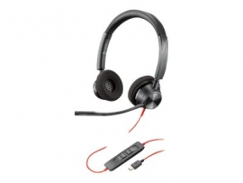 PLANTRONICS BLACKWIRE 3320, UC, STEREO USB-C CORDED HEADSET - PROMO ENDS 30SEP21 213935-01