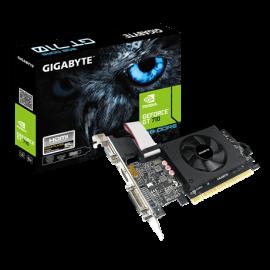 GIGABYTE NVIDIA, GT 710, D5, 954MHz, 2GB GDDR5, 1xHDMI, 1xDVI, 1xD-Sub, Low Profile, 1xFan, 300W, 3 Years Warranty GV-N710D5-2GIL