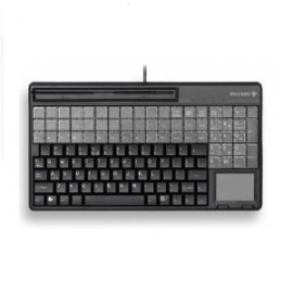 Cherry Spos Qwerty Keyboard With Touchpad And 3 Track Magnetic Strip Reader. Ip 54 Spill Resistant