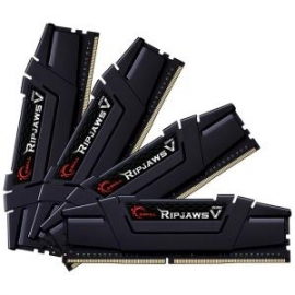 G.Skill RIPJAWSV 32G KIT 4X8G PC4-32000 DDR4 4000MHZ 18-22-22-42 1.35V DIMM F4-4000C18Q-32Gvk