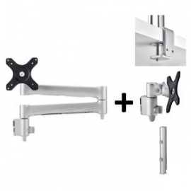 Atdec TRIPLE MONITOR ARM DESK MOUNT - UP TO 24IN - BUILT-IN ARM ROTATION LIMITER AWMS-3-13714-F-S