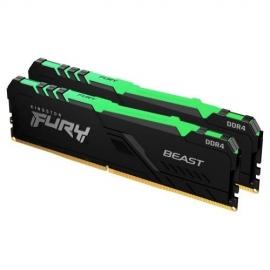 Kingston 16GB DDR4-3600MHz CL17 DIMM (Kit of 2) FURY Beast RGB KF436C17BBAK2/16
