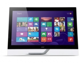 "Acer T272hul 27"" 10-point Touch, 2560 X 1440, Vga+ Hdmi+ Dp + Usb, Vesa, Speaker, 3 Year Wty"