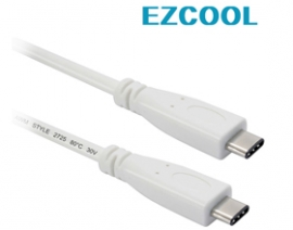 Ezcool 1m Skymaster Usb3.1 Cable Type C To Type C White Acbskyusbv311m