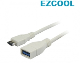 Ezcool 0.2m Skymaster Usb3.1 Cable Type C To Usb3.0 Af White Acbskyusbv31adp