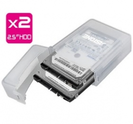 """Astone Cas-220 2.5"""" Hdd Protection Case Fits 2x 2.5"""" Hdd"""
