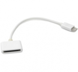 Amaze Apple 8 Pin Lightning To 30 Pin Cable Adaptor (iphone 5/ Itouch 5/ Ipod Nano 7/ Ipad Mini/