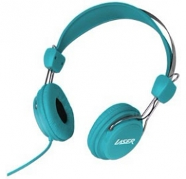 Laser Ao-headk-bl Headphones Stereo Kids Friendly Colourful Blue