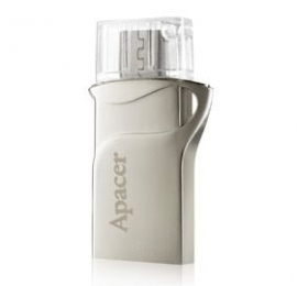 Apacer Ah173 8gb Silver Hybrid Mobile Usb Flash Drive. Micro Usb+usb Dual-interfaces. Supports Andriod