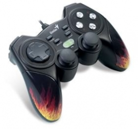 Genius Maxfire Blaze3 Vibration Gamepad For Pc/ Ps2/ Ps3 Games, Vibration Feedback, Turbo, Usb,