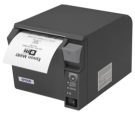 Epson Thermal Receipt Printer With Dual Parallel/ Usb Interface, With Power Supply, Dark Grey