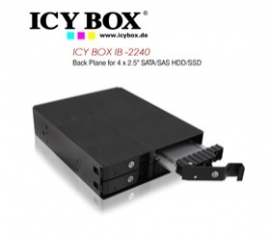 Icy Box (ib -2240) Back Plane For 4 X 2.5 Inch Sata/ Sas Hdd/ Ssd Hddicy2240ssk