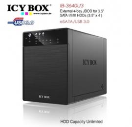Icy Box Ib-3640su3 External 4-bay Jbod System For 3.5 Inch Sata Hdds Hddicy3640su3