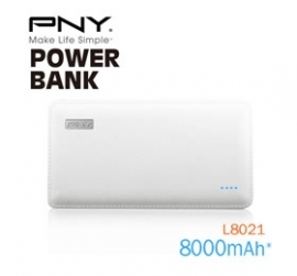 Pny (l8021) 8000mah Powerpack Universal Rechargeable Battery Bank With Output 2.1a, 5v Mobpnypbankl8021
