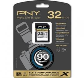 Pny 32gb Sdhc Elite Performance, Class 10, Uhs-1, 90mb/sec, P-sdh32u1h-ge
