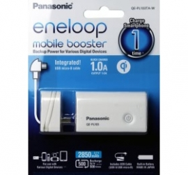 Panasonic Eneloop Mobile Booster White Qe-pl103, 2650mah Lithium Ion