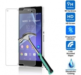 I-tech Premium Tempered Glass Screen Protector For Sony Xperia Z3 Compact With 2.5d Curved Edge