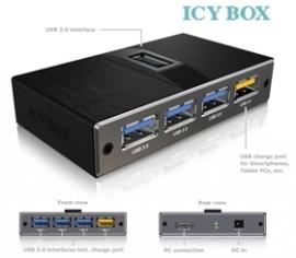 Icy Box 4 Port Usb 3.0 Hub With Usb Charge Port (ib-ac611) Usbicyibac611u34p