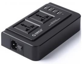 ORICO 2 Outlet Surge Protector USB 2500W, 5V2.4AUSBCharge, BK USOR-OPC2A4UBK