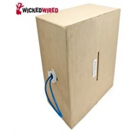 Wicked Wired 305m Blue CAT5E UTP Stranded Network Cable Roll WW-N-CAT5-ROLL305M