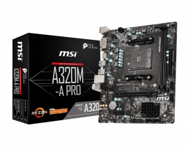 MSI AMD AM4 motherboard inspired from architectural design, with Core Boost, DDR4 Boost (A320M-A-PRO)