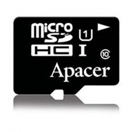 Apacer Micro Sdhc Uhs-i 16gb Class 10 - With Adaptor Retail Pack Ap16gmcsh10u1-r