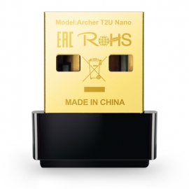 Tp-Link AC600 Nano Wi-Fi USB Adapter 433Mbps at 5GHz + 200Mbps at 2.4GHz USB 2.0 ARCHER T2U NANO