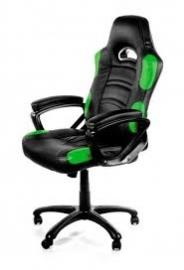 Arozzi Black & Green Enzo Adjustable Ergonomic Motorsports Inspired Desk Chair Aro-enzo-gn