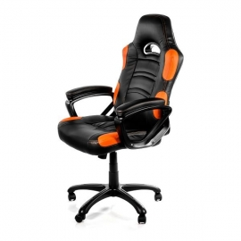 Arozzi Black & Orange Enzo Adjustable Ergonomic Motorsports Inspired Desk Chair Aro-enzo-or