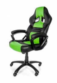 Arozzi Black & Green Monza Adjustable Ergonomic Motorsports Inspired Desk Chair Aro-monza-gn