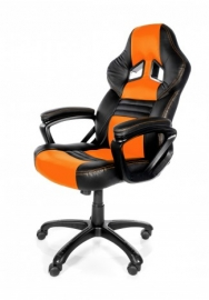 Arozzi Black & Orange Monza Adjustable Ergonomic Motorsports Inspired Desk Chair Aro-monza-or