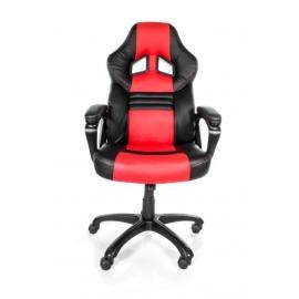 Arozzi Black & Red Monza Adjustable Ergonomic Motorsports Inspired Desk Chair Aro-monza-rd