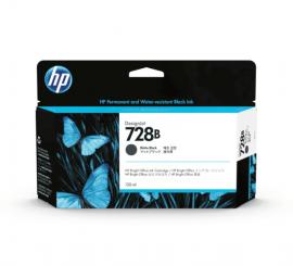 HP 728B 130ml Matte Black Ink Cartridge (3WX26A)