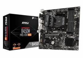 MSI B450M PRO-VDH MAX Micro-ATX Motherboard: B450 Socket AM4 For AMD Ryzen Processors 4x DDR4, 4x SATA 6Gb/s, M.2, USB 3.2 (B450M PRO-VDH MAX)